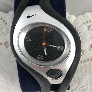Men's Unique Designed Nike Black & Silver Watch